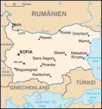 Bulgarien Karte